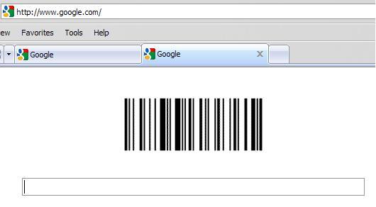 bar code logo. of Google#39;s ar code logo,