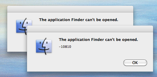 Finder Crashed