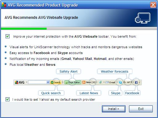 AVG Websafe Toolbar