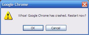 """Whoa!  Chrome crashed!"""